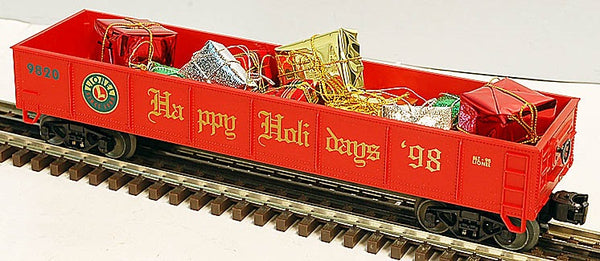 Lionel 6-19438 Happy Holidays Gondola with Presents, Std. O
