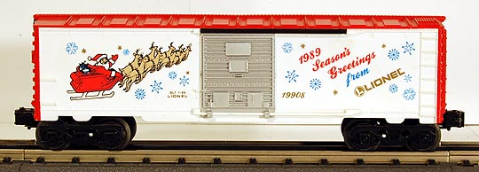 Lionel 6-19908 Christmas 1989 Boxcar