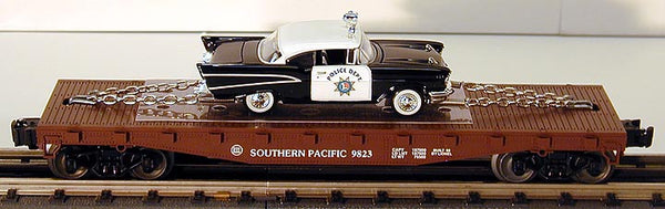 Lionel 6-26906 Southern Pacific Flatcar with Die-cast Corgi Police Car