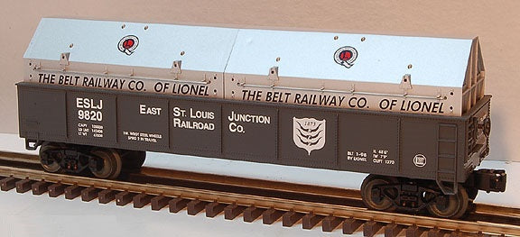 Lionel 6-26913 East St. Louis Gondola with Coil Covers Std. O