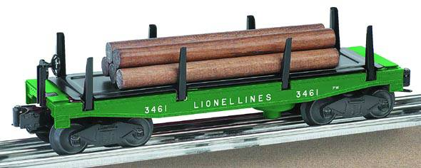 Lionel 6-36739 Postwar Celebration Series #3461 Lionel Lines Log Dump Car