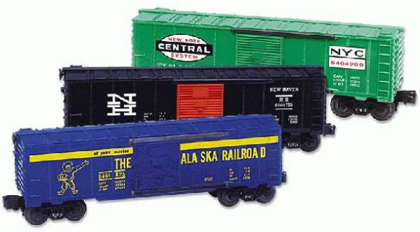 "Lionel 6-39203 ""6464"" Series X Boxcar  3-Pack"