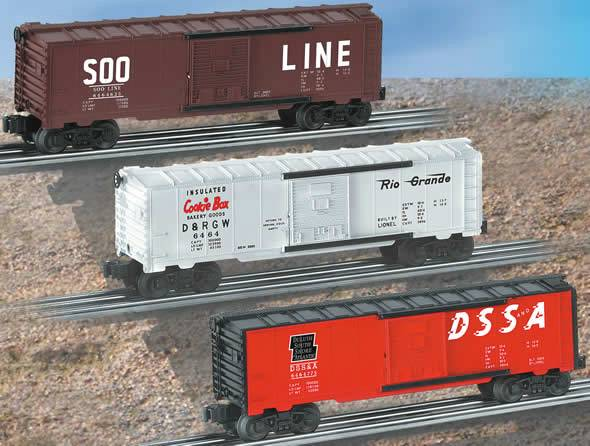 "Lionel 6-39242 ""6464"" Archive Collection Boxcar 3-Pack #1"