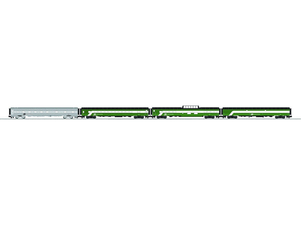 "Lionel 6-84045 Burlington Northern 21"" Passenger Car 4-Pack"