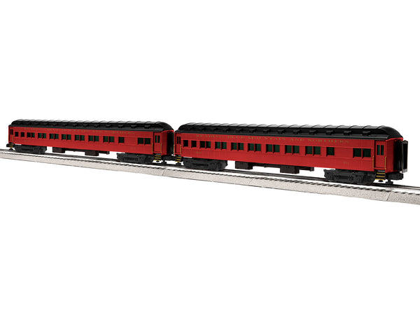 "Lionel 6-84193 - Lionel Scale 18"" Heavyweight Coach 2-Pack - Reading Blue Mountain & Northern #1"