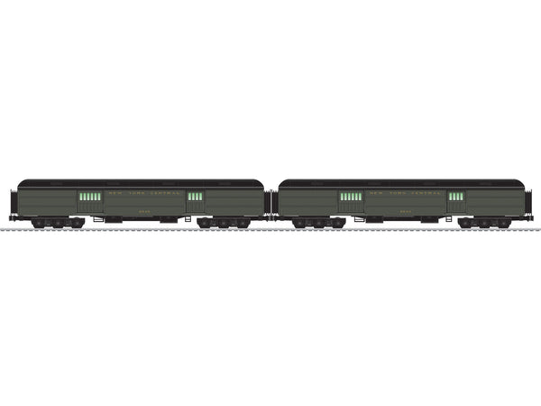 "Lionel 6-85336 - Lionel Scale Mail & Express - New York Central 18"" Heavyweight Baggage 2pk(#'s 8643, 8648)"