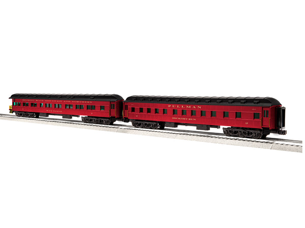 "Lionel 6-85373 - Lionel Scale Excursion & Business Cars - 18"" Reading & Northern 2 Pack B (Pullman #2, Observation #1)"
