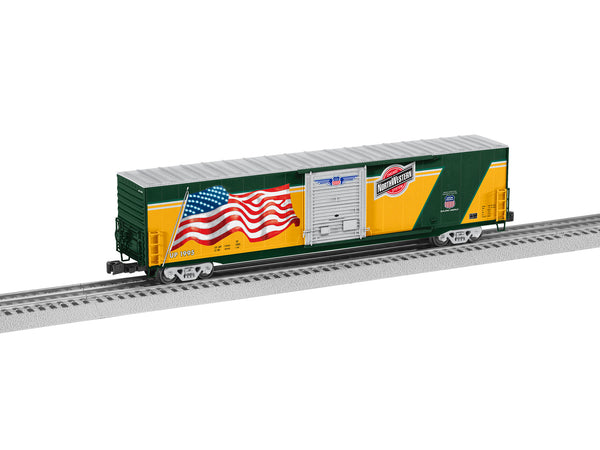 Lionel 6-85402 - Lionel Union Pacific LED Flag Boxcar - Chicago North Western Heritage #199