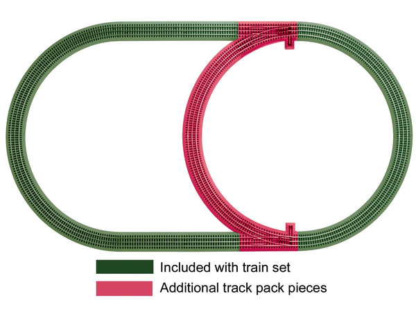 LIONEL 6-12028 FASTRACK INNER PASSING LOOP ADD-ON TRACK PACK