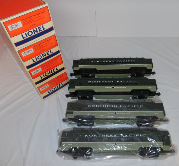 Lionel 6-19166 Northern Pacific 4 Car Vista Dome Passenger Set W/ Shipping Box