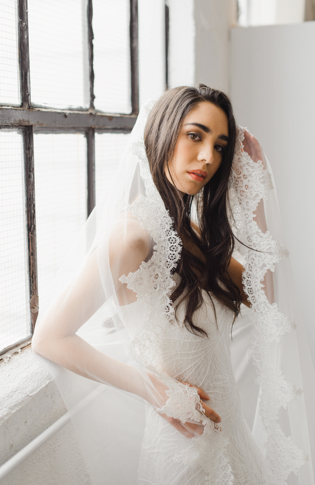 Catarina Lace Wedding Veil - Daphne Newman Design