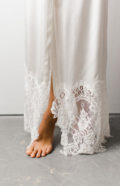 Grace Long Bridal Robe - Daphne Newman Design