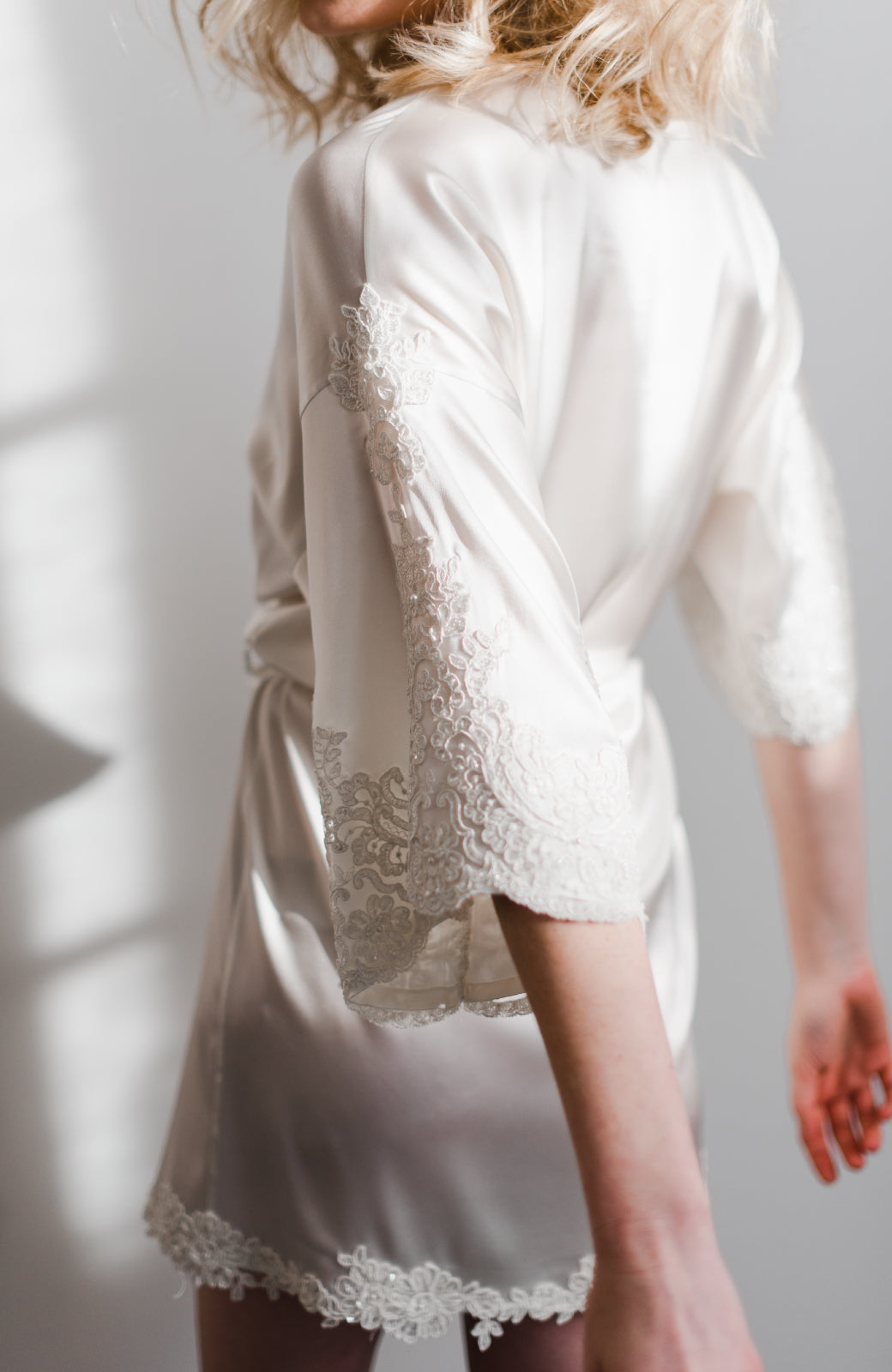 Ilisha Short Bridal Robe - Daphne Newman Design