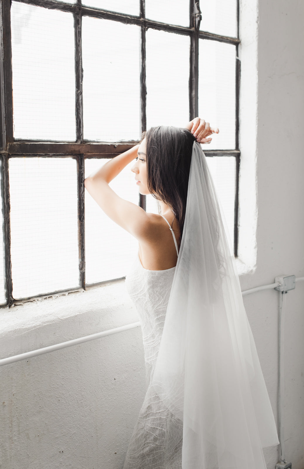 The Classic Silk Tulle Drop Wedding Veil - Daphne Newman Design