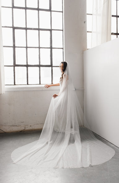 Sample  Classic 2.0 Silk Tulle Wedding Veil - Daphne Newman Design