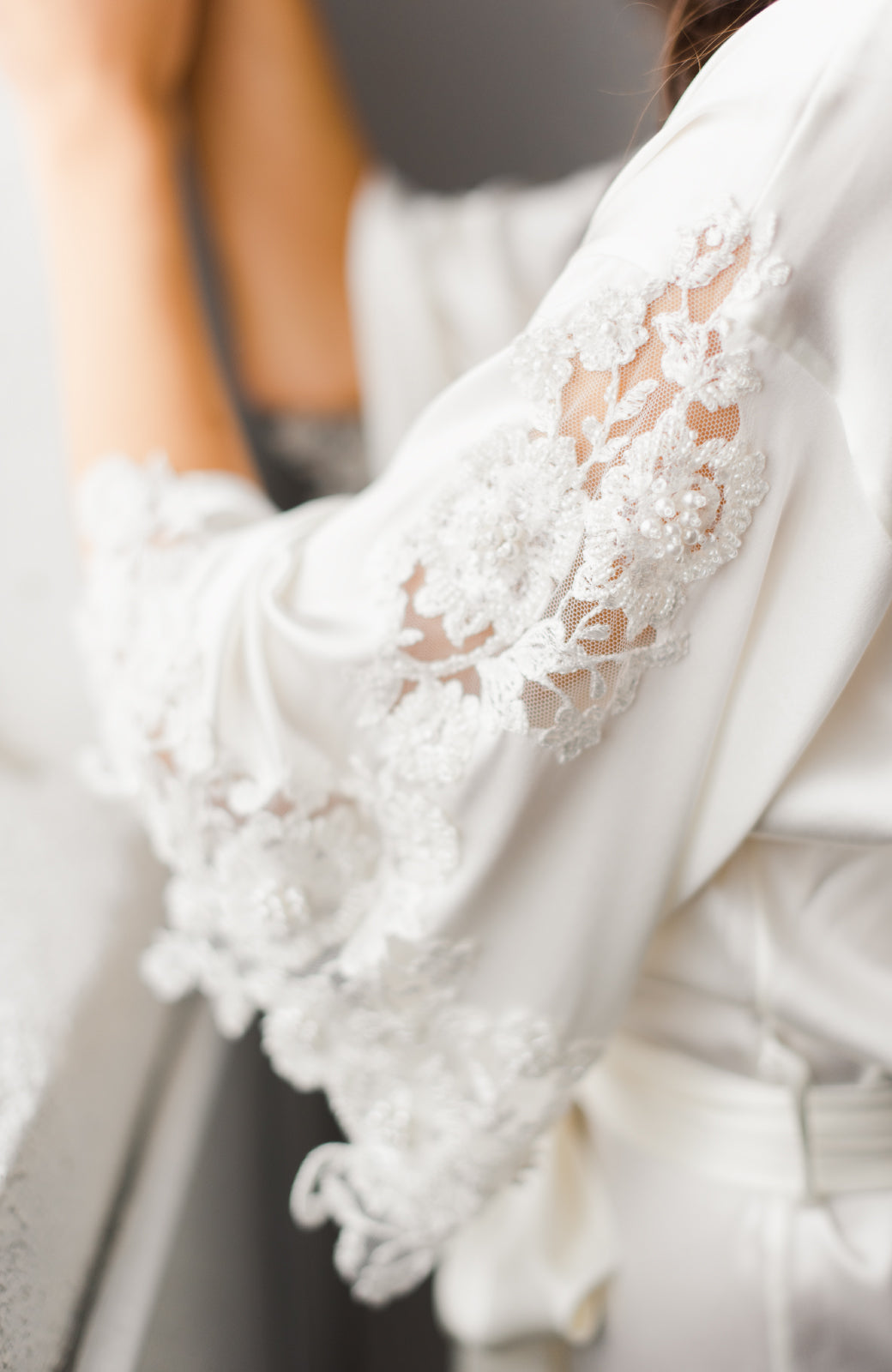 Lucia Short Bridal Robe - Daphne Newman Design