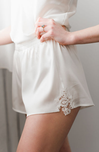Lexie Silk Lace Shorts - Daphne Newman Design