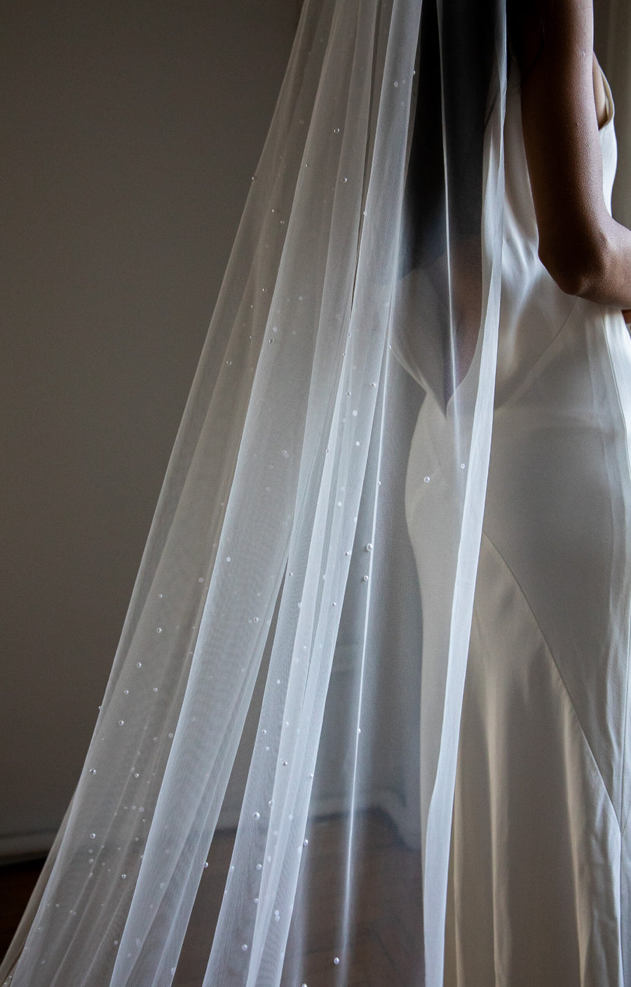 Kennedy Pearl Embellished Wedding Veil - Daphne Newman Design