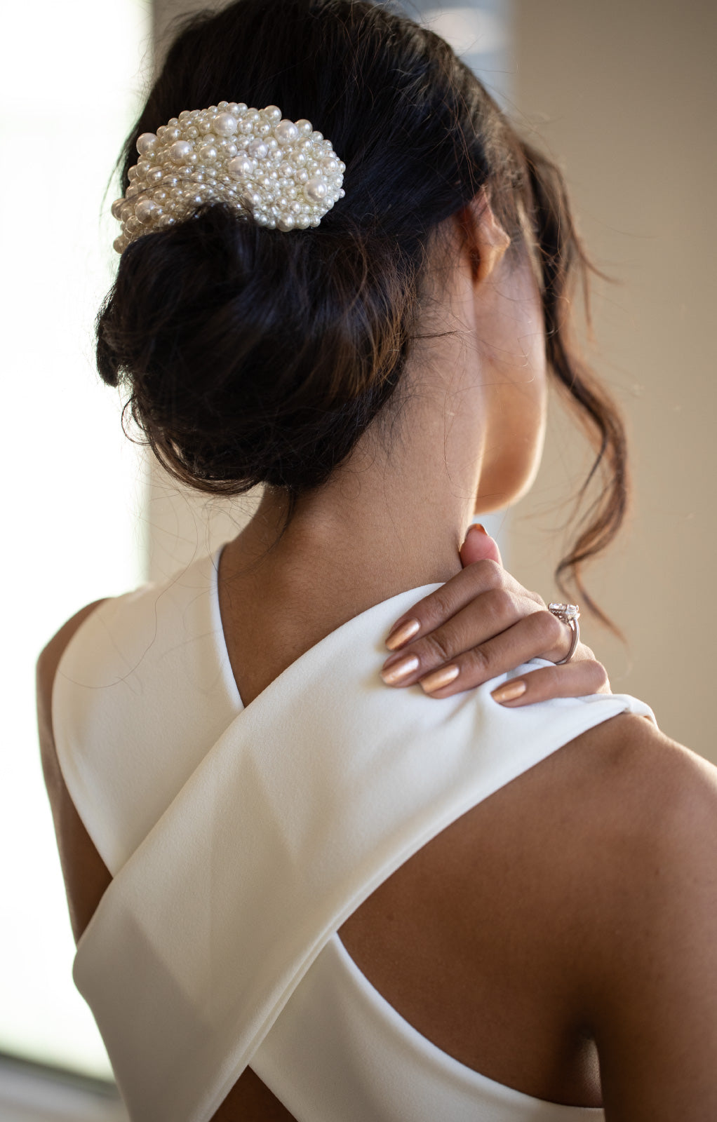 Ana Bridal Pearl Hair Piece - Daphne Newman Design