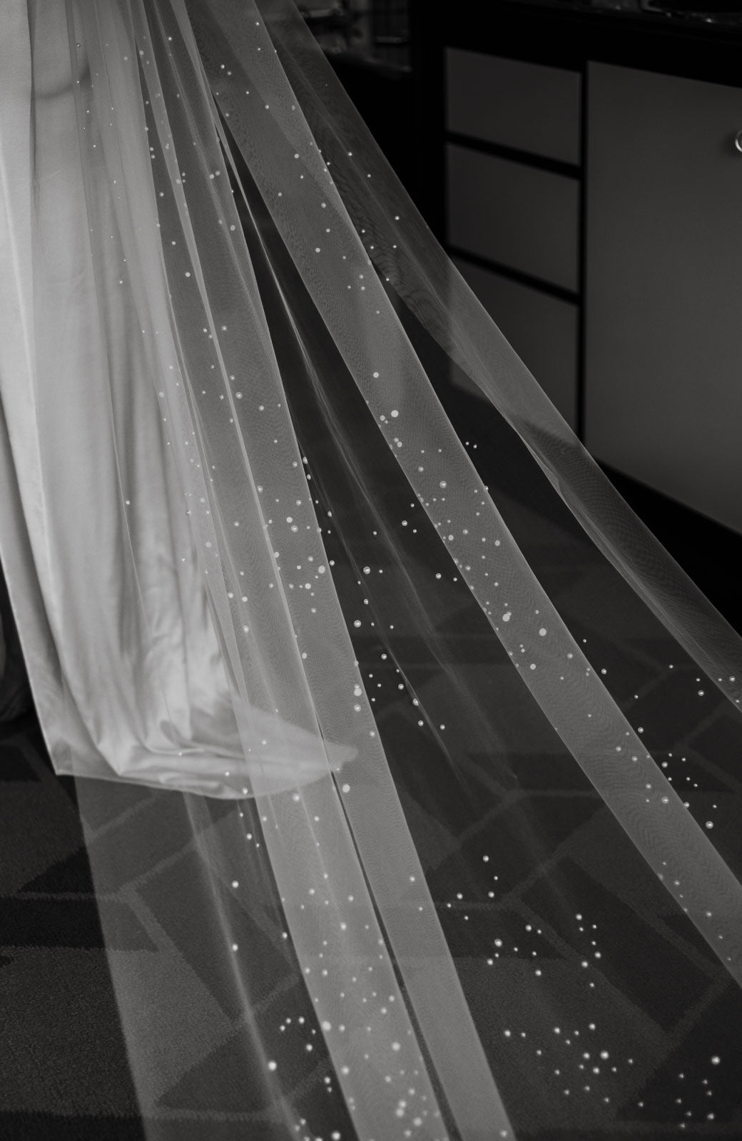 Kennedy Pearl Embellished Wedding Veil