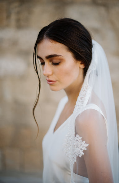 Venetia Lace Wedding Veil - Daphne Newman Design