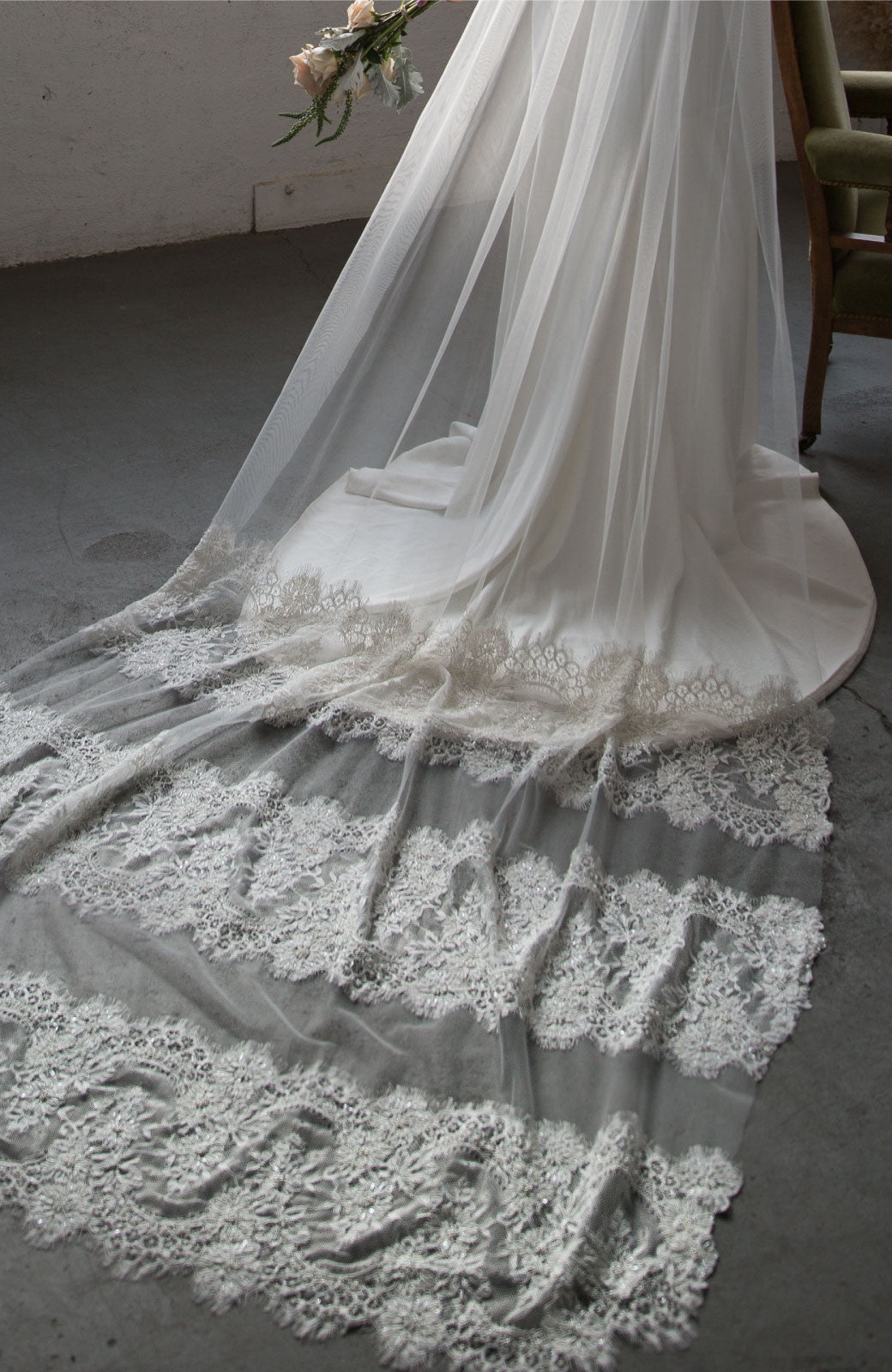 Antonia Lace Wedding Veil - Daphne Newman Design