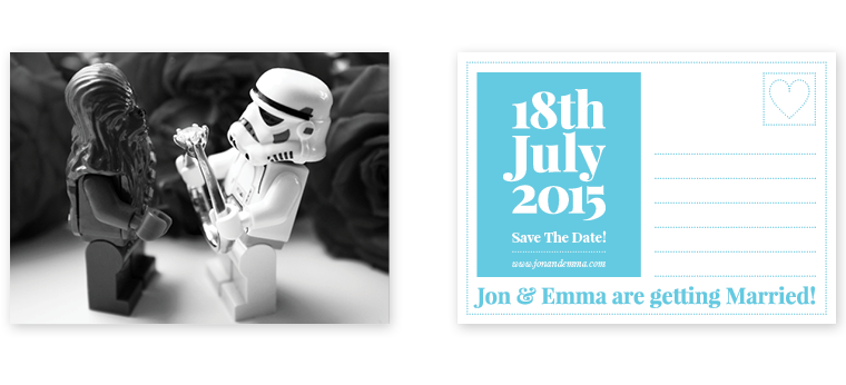 "Lego Star Wars ""Save The Date"" Wedding Photography"
