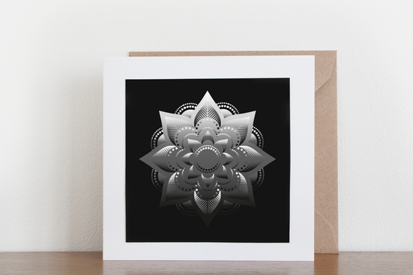 Shiny Mandala Greeting Card