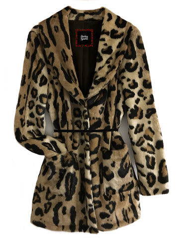 Kitten Couture Leopard Fur Coat