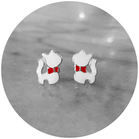Aristocats Enamel Earrings