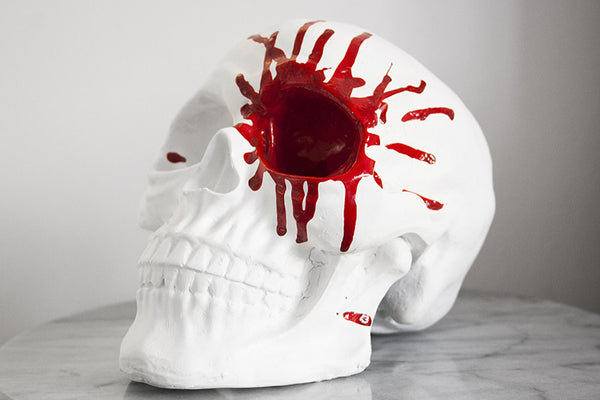 Blood Spatter Skull Original Art