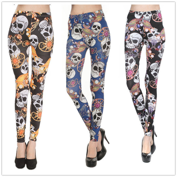 Skull Leggings 3 Colors- FREE SIZE- One size fits all