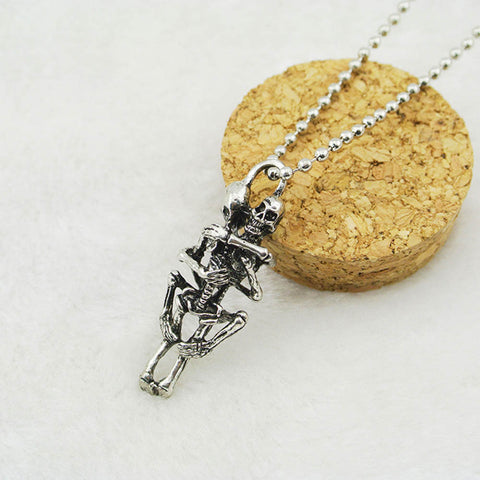 Skeleton Infinity Stainless Steel Pendant