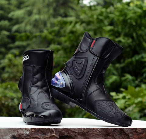 Speed Bikers Leather Pro-biker Boots