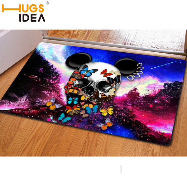 Retro Punk Skull Carpet Non-slip Doormat