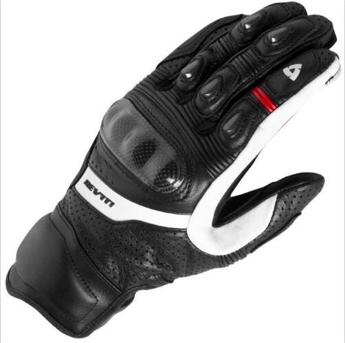 Revit Motorcycle black Genuine Leather Gloves