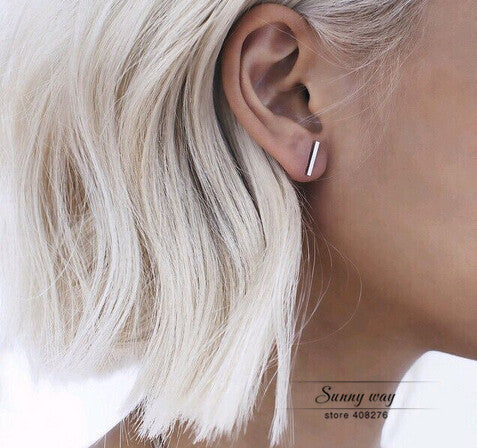 Stick Simple Chic Stud Earrings