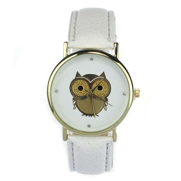 Cartoon Owl Alloy Dress Watch