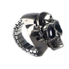 Black Skull Titanium Steel Ring