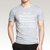 Funny Slogan Casual T-Shirt for Men