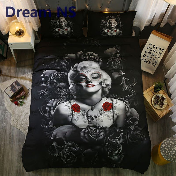 Elegant Rose Marilyn Monroe Bedding Set