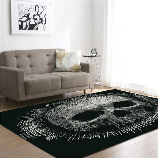 Creative Skull Delicate Europe Soft Carpet