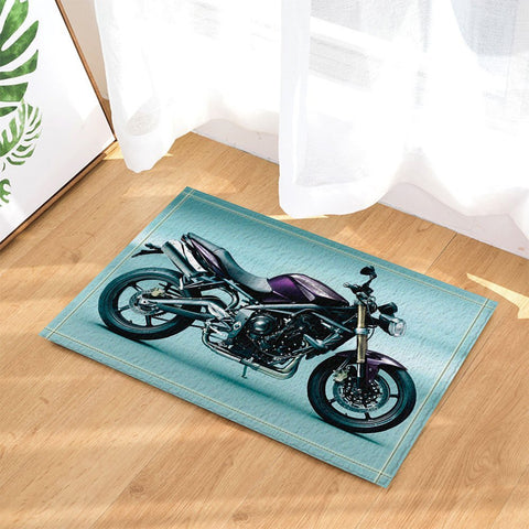 Adventurous Mat Motorcycle Decor Bath Rugs