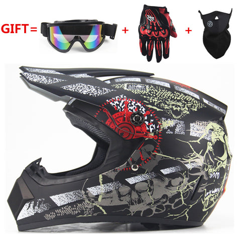 FREE SHIPPING Adult Motocross Off Road Helmet