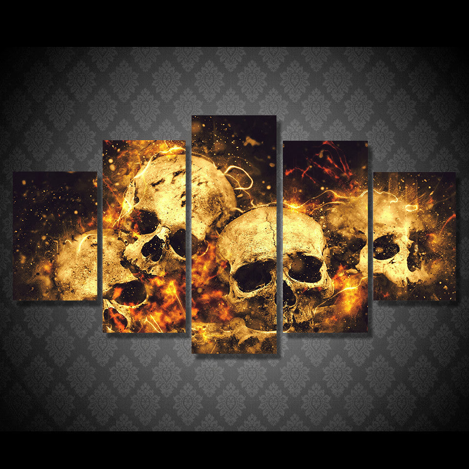 Fire canvas wall art hd printed wall poster