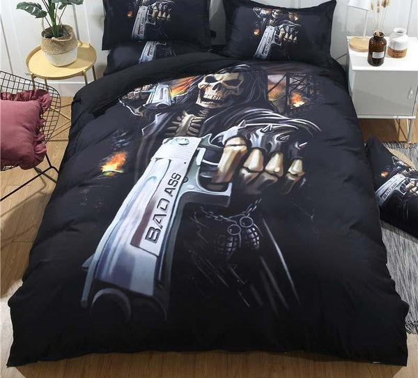 Skull Quilt Bedding Set