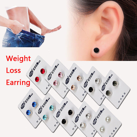 2018 New Magnetic Stud Slimming Earrings Slimming Patch Lose Weight Magnetic Health Jewelry Magnets Of Lazy Paste Slim Patch