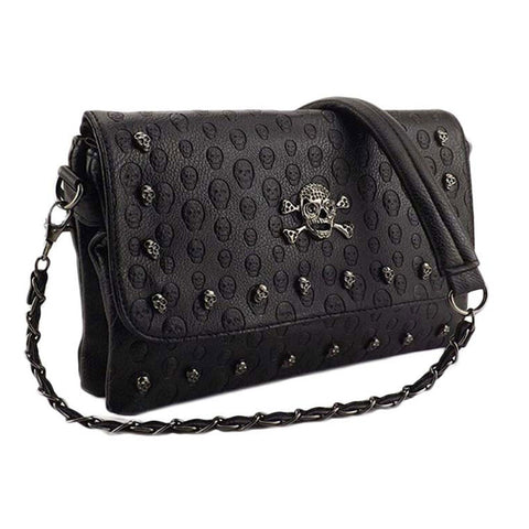 Vintage Fashion Skull Punk Shoulder Bag