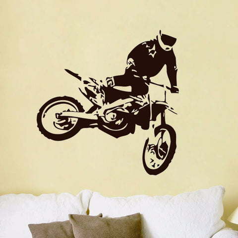 Motocross Jumps Removable Adhesive Wall Stickers