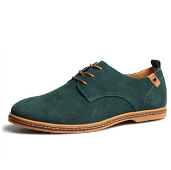Lace Up Male Suede Oxfords Leather Shoes
